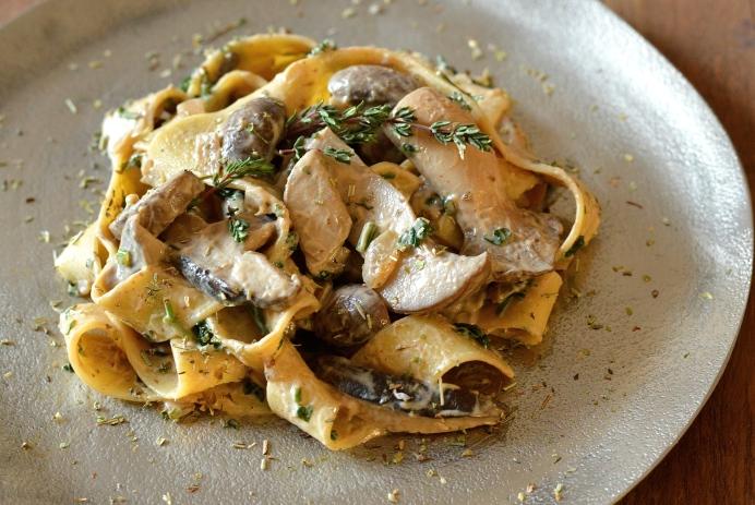 Tagliatelle mushroom dish