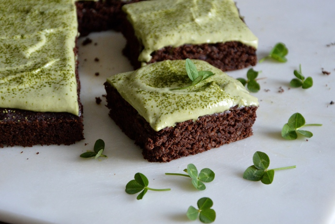 Saint Patrick's chocolate cake