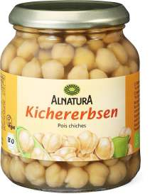 Chickpeas in jar