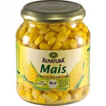 Corn in jar