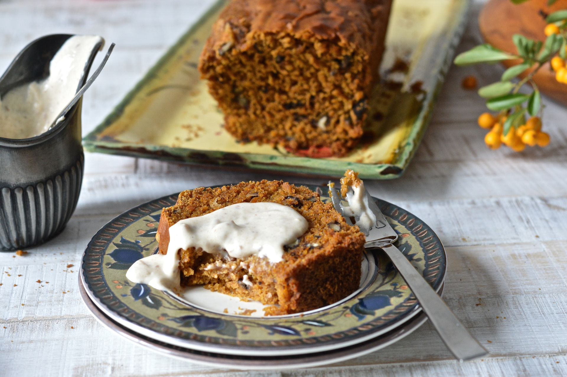Pumpkin walnut loaf (vegan)