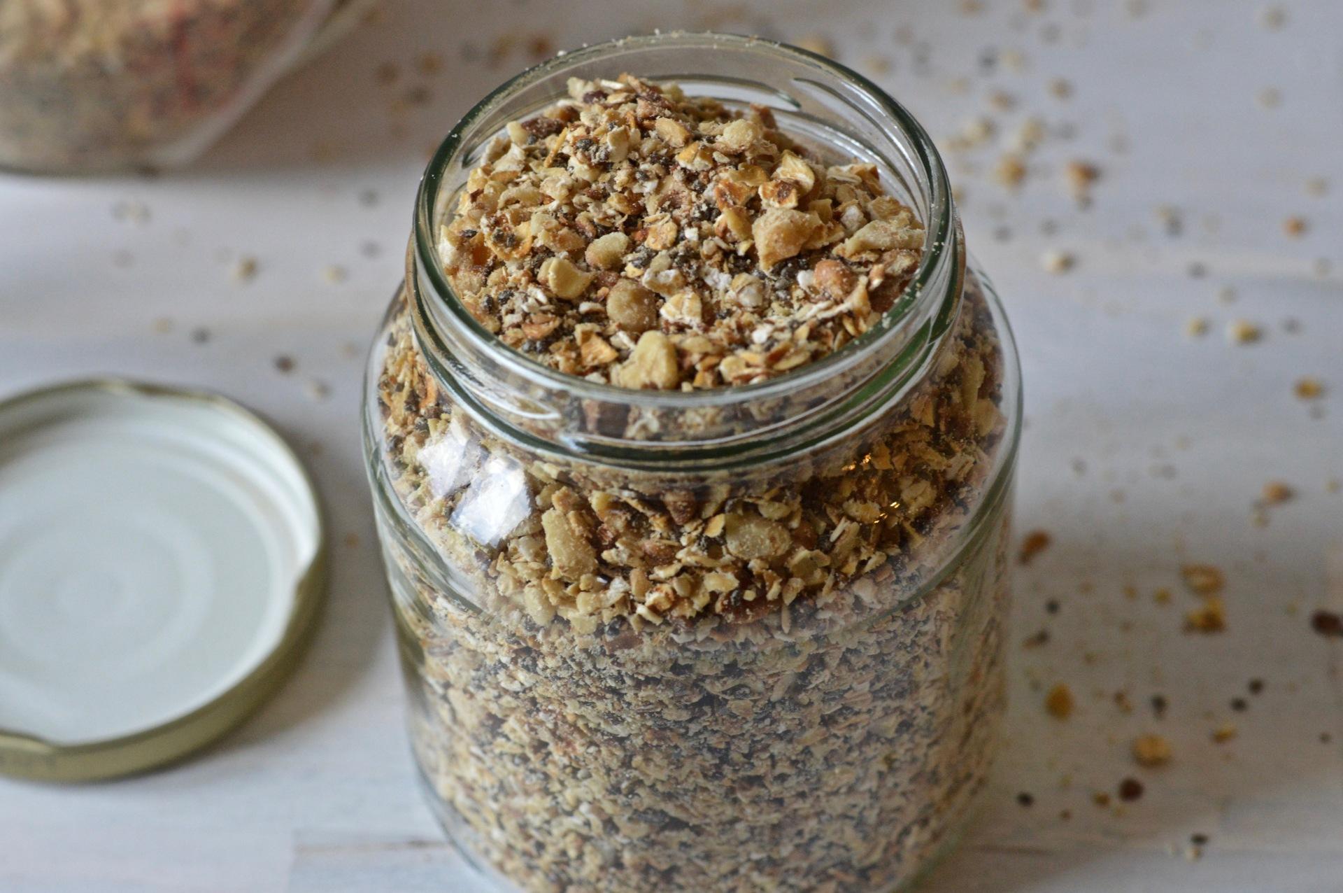 Walnut oat and chia breadcrumbs