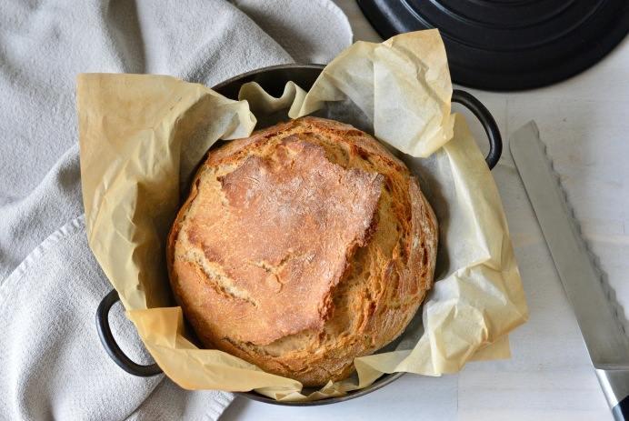 No knead crusty bread