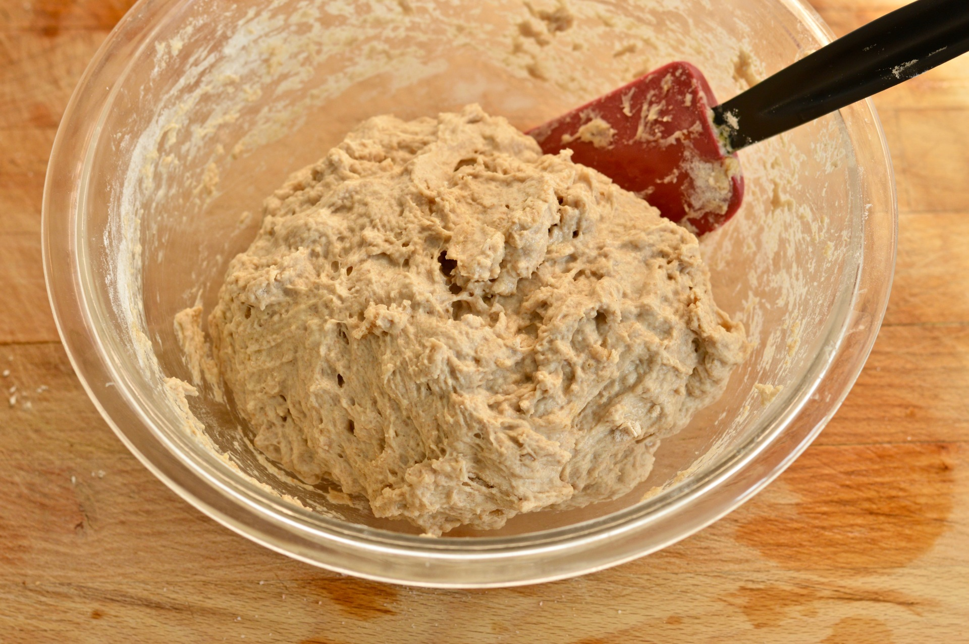 No knead bread dough